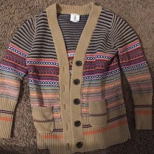 Kids lands end colorful sweater.